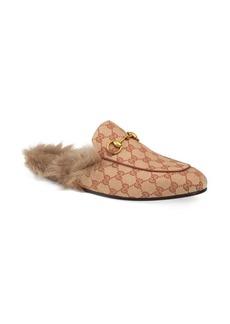 Gucci Princetown Lamb Fur Slippers