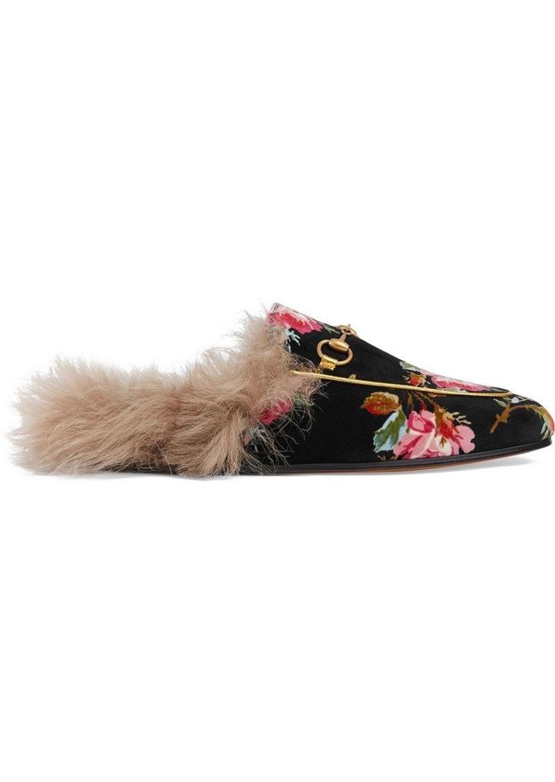 75de34c22ca Gucci Princetown rose velvet slipper