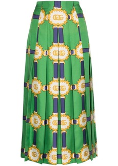 Gucci printed logo pleated skirt