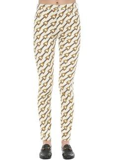 Gucci Printed Stretch Cotton Twill Jeans