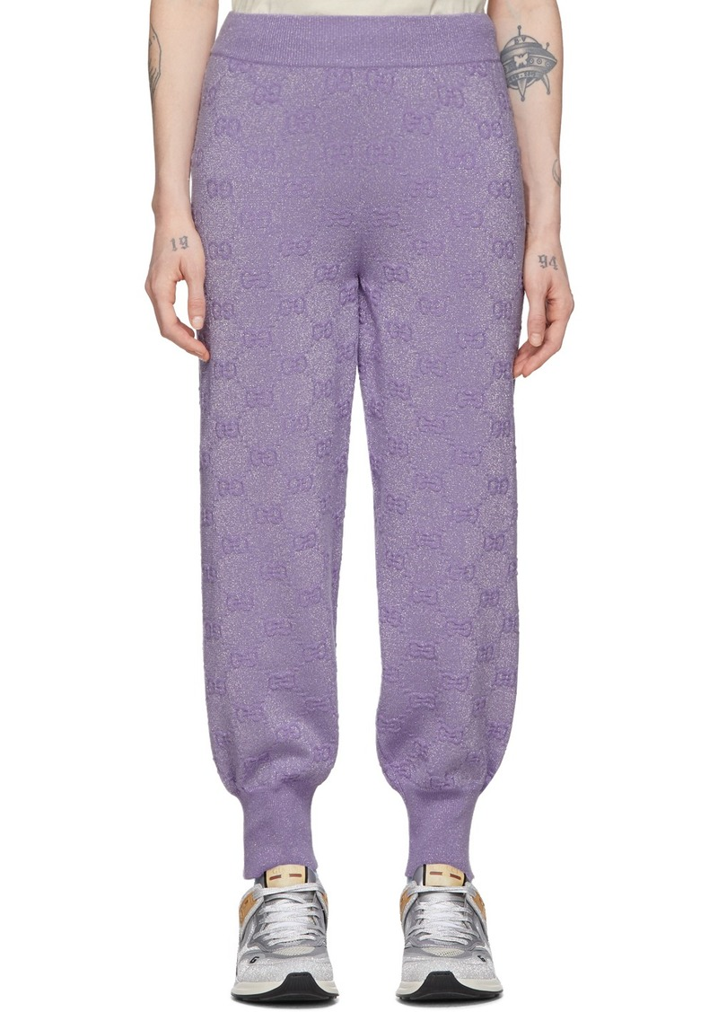 Gucci Purple Lurex Interlocking G Lounge Pants