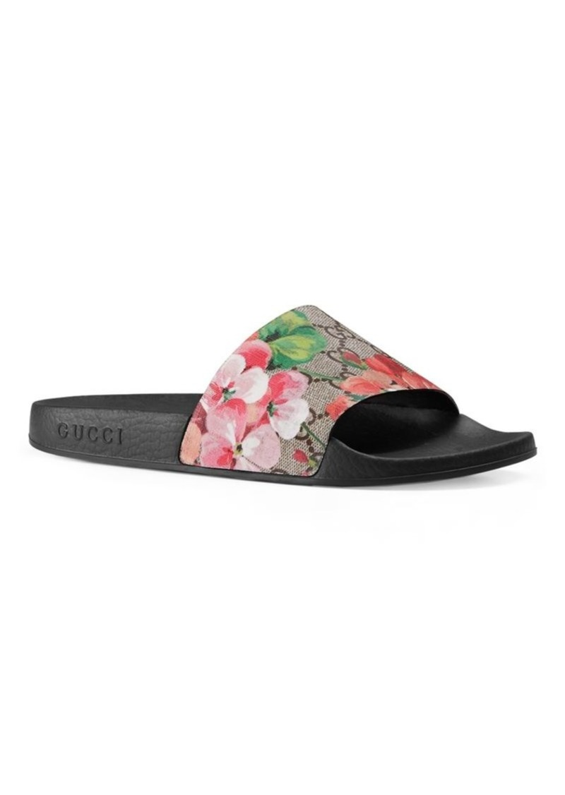 ca074e137a0b Gucci GG Blooms Supreme Slide Sandals