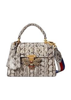 Gucci Queen Margaret small snakeskin top handle bag