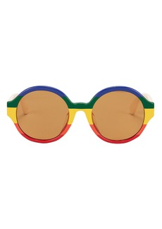 Gucci Rainbow Round Sunglasses