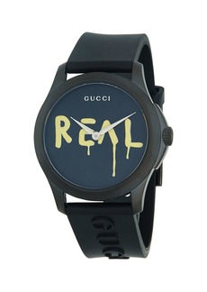 Gucci Real Stainless Steel & Rubber-Strap Watch