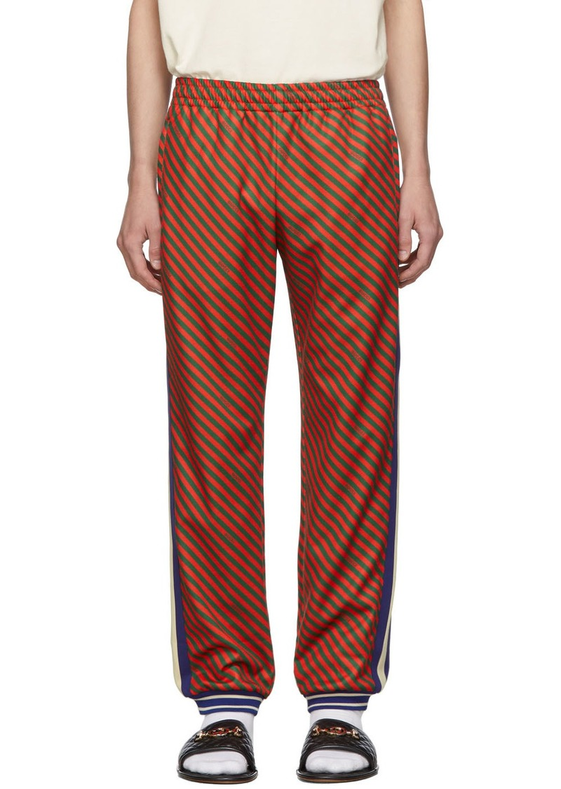 Gucci Red & Green Striped Lounge Pants