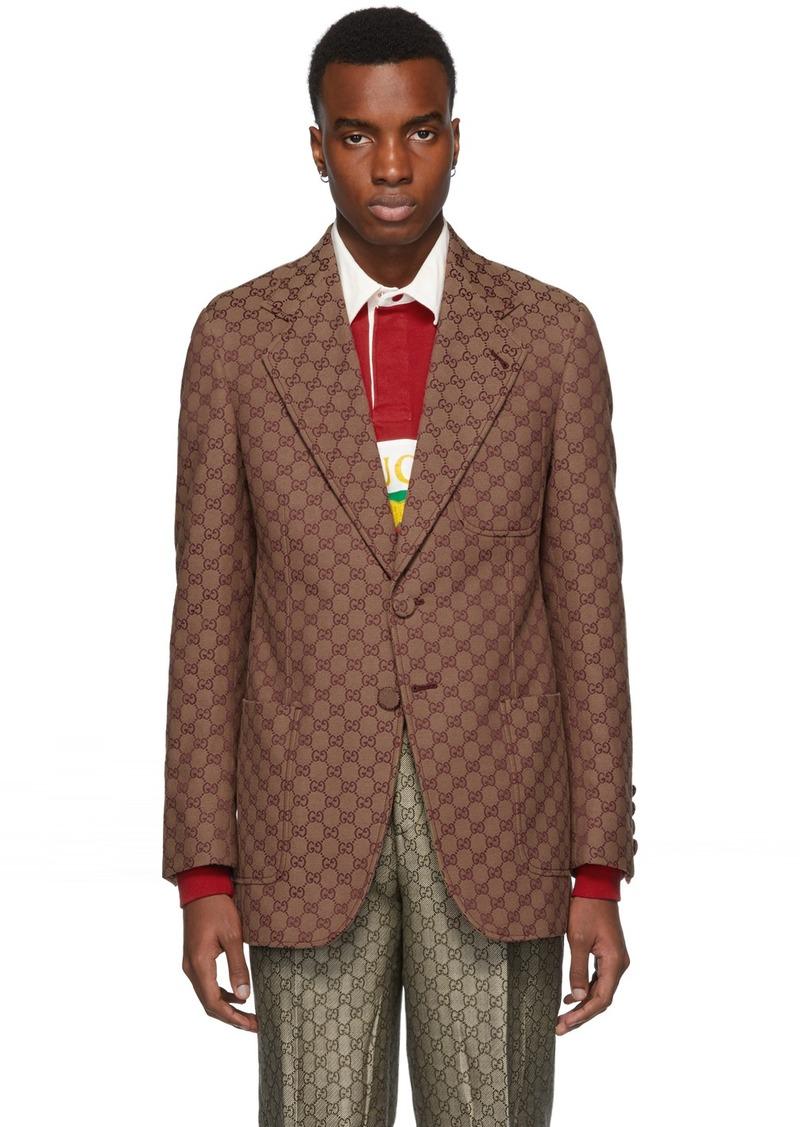 Gucci Red GG Canvas Blazer