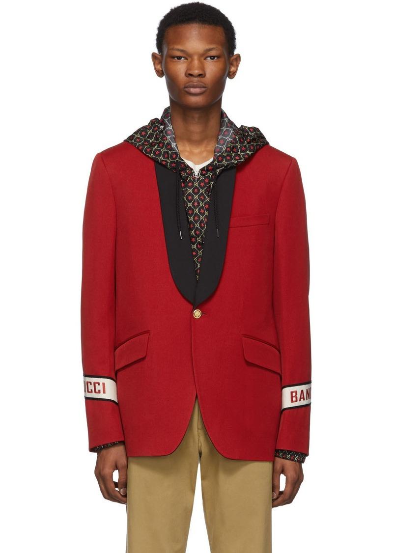 Red 'Gucci Band' Blazer