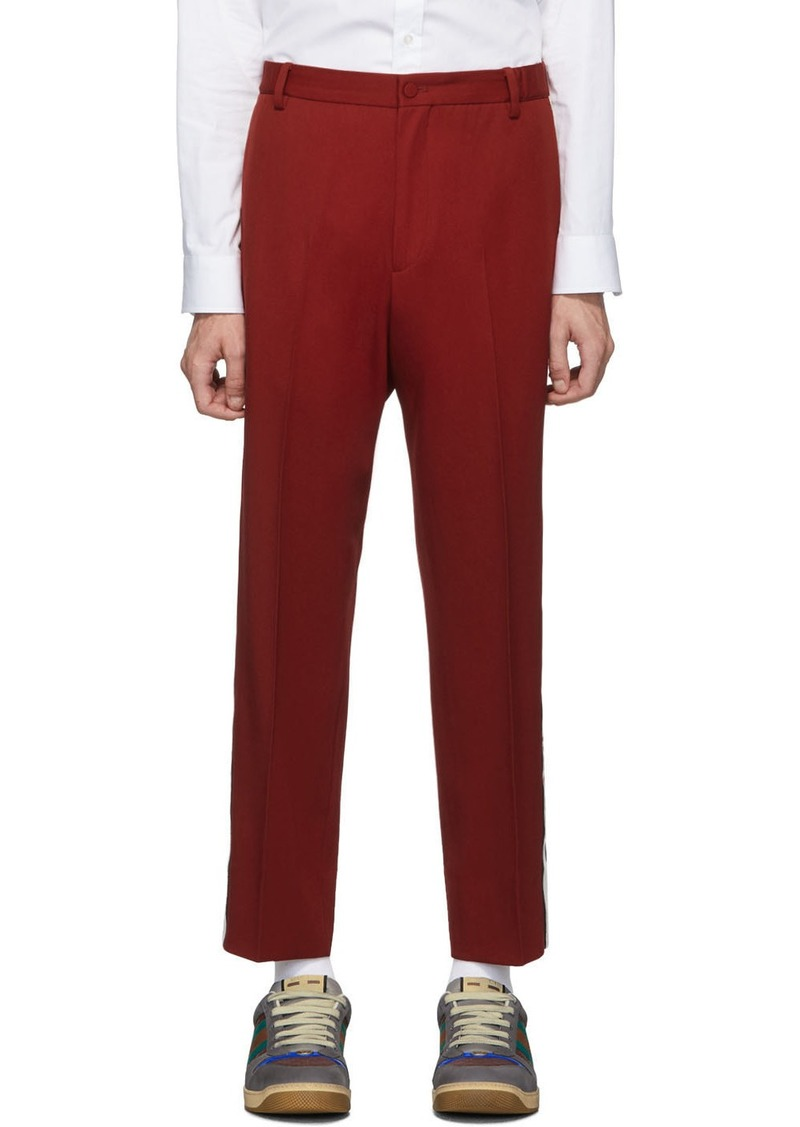 Red 'Gucci Band' Trousers