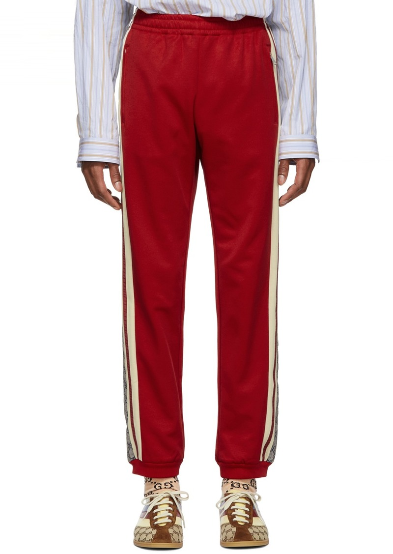 Gucci Red Oversized GG Lounge Pants