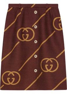 Gucci Reversible wool skirt with Interlocking G
