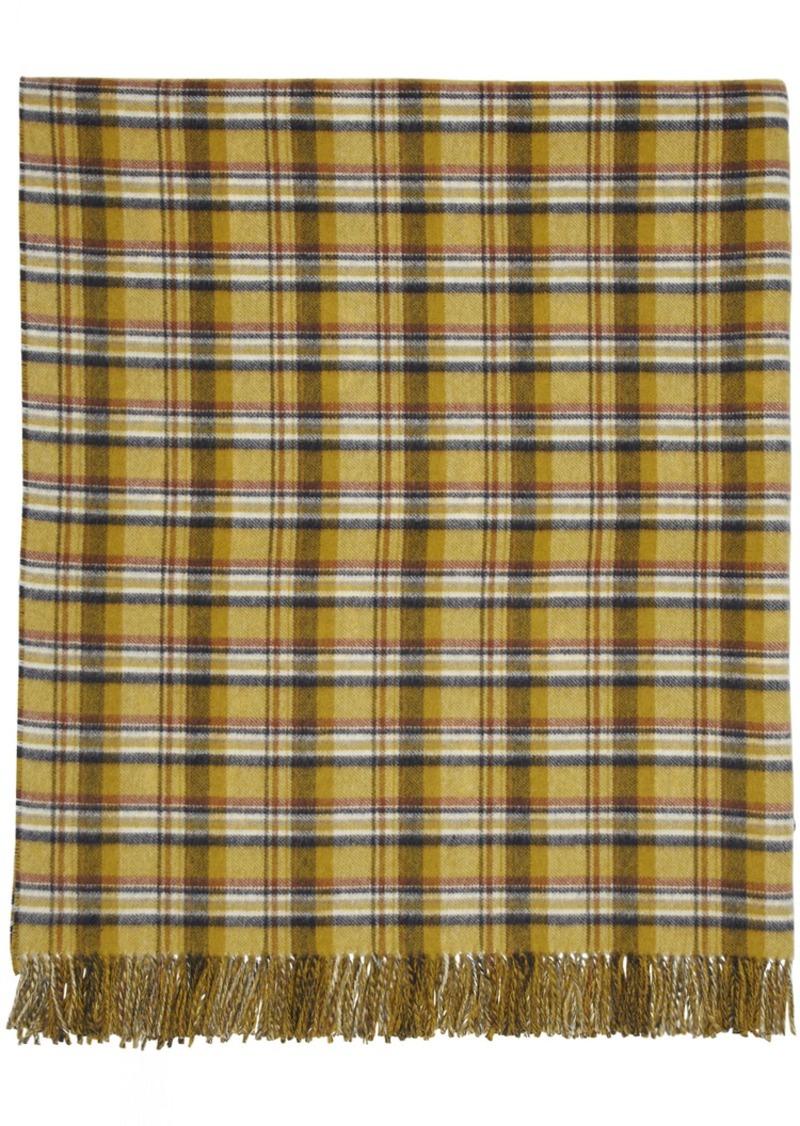 Gucci Reversible Yellow & Blue GG Wool Poncho