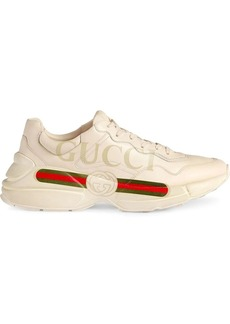 Gucci Rhyton-logo leather sneakers
