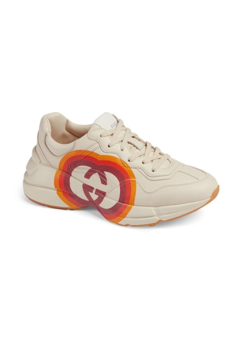 Rhyton Gucci Heart Leather Sneakers