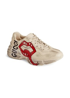 Gucci Rhyton Lips Leather Sneaker