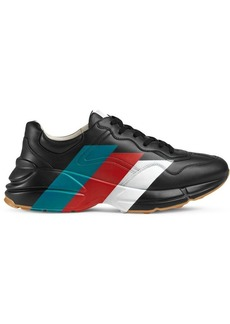 Gucci Rhyton Web print leather sneaker