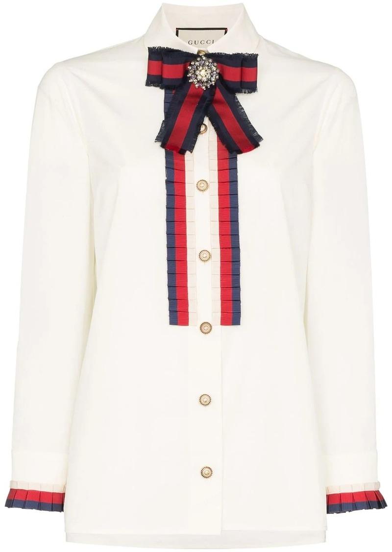Gucci ribbon-trim shirt
