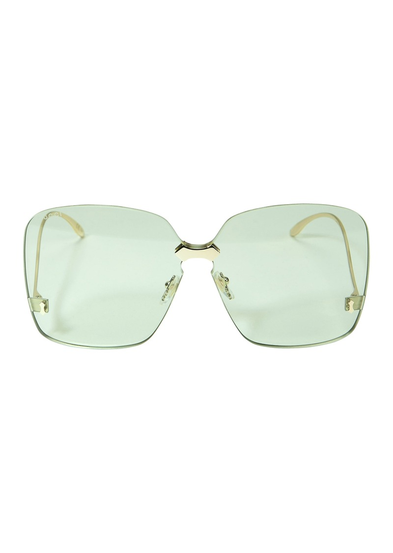 5ff61f0af199 Gucci Rimless Square Sunglasses   Sunglasses