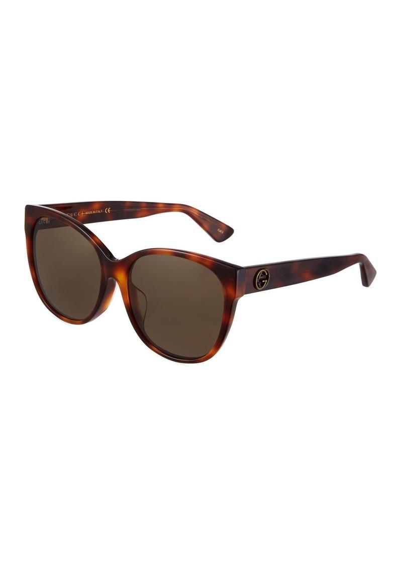 754f37c9523 Gucci Round Acetate Tortoiseshell Sunglasses Now  206.25