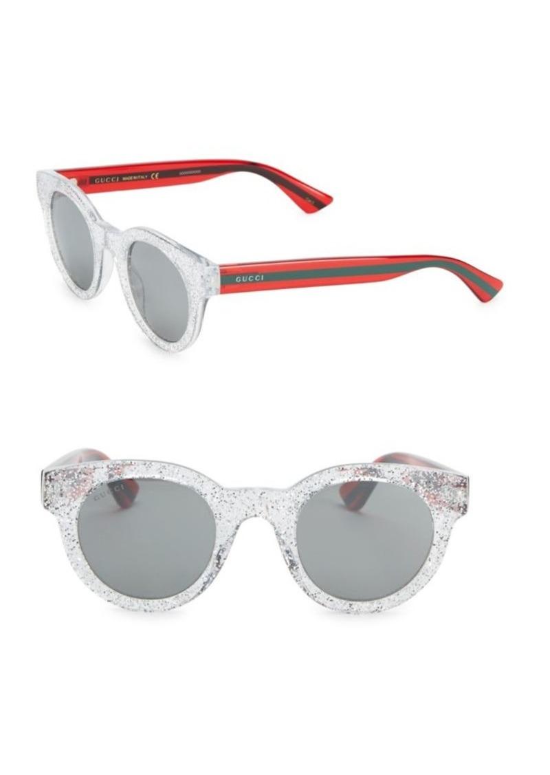 12517cdda Gucci Round Glitter Sunglasses | Sunglasses