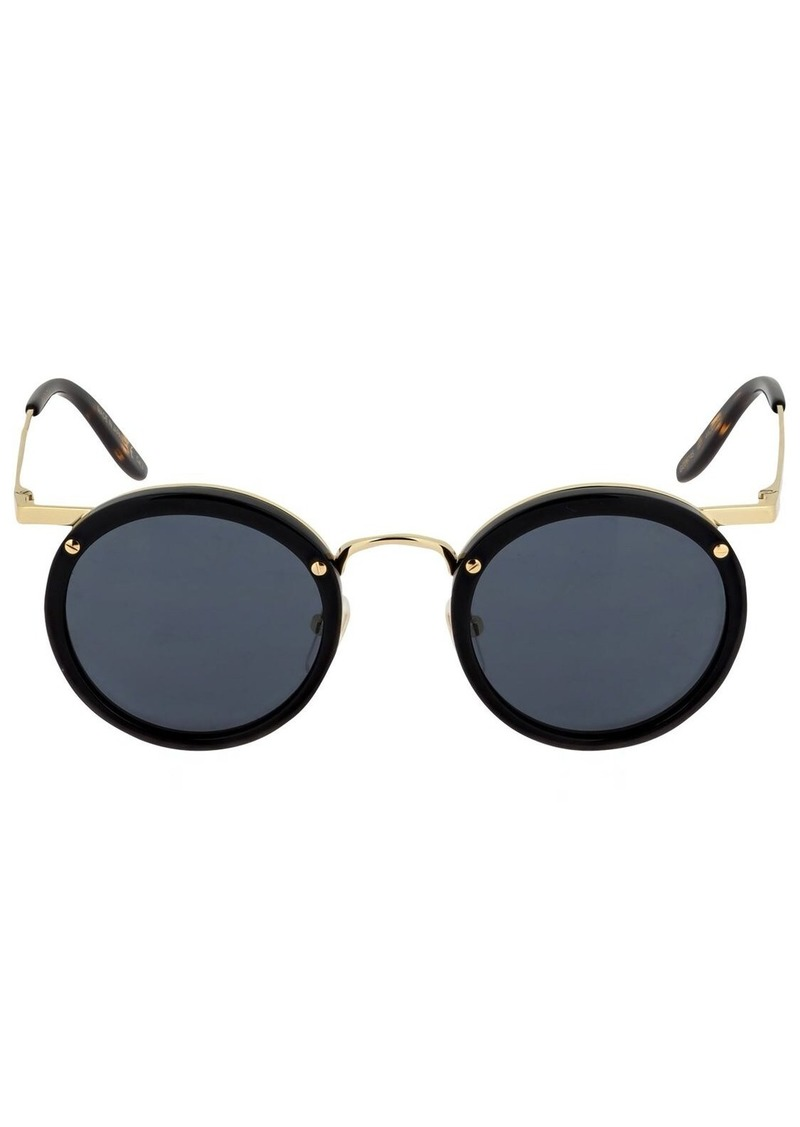 Gucci Round Metal Sunglasses W/acetate Detail