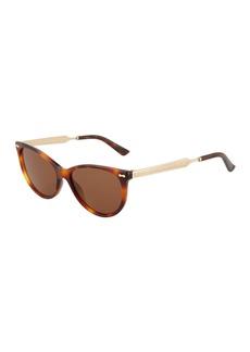 Gucci Round Plastic/Metal Sunglasses