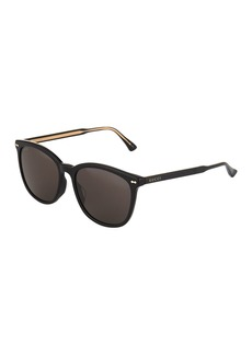 Gucci Rounded Square Acetate Sunglasses with Solid Lenses