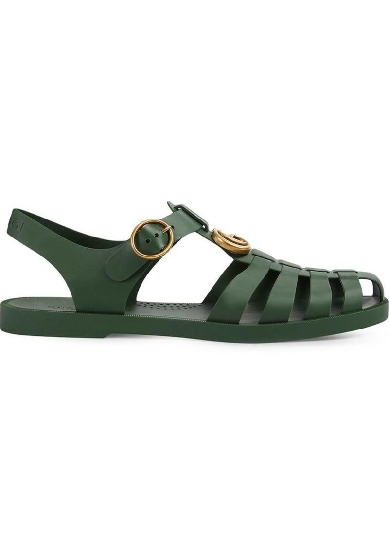3c73721874b8 Gucci Rubber buckle strap sandal