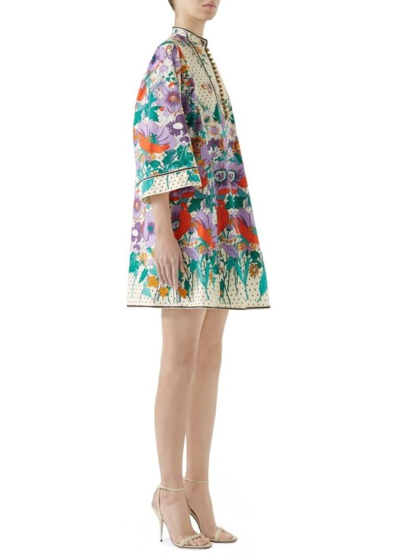 73d9ca0238 Gucci Short Sleeve Poplin Floral Tunic Dress | Dresses