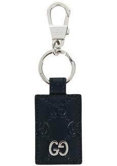 Gucci signature textured keyring