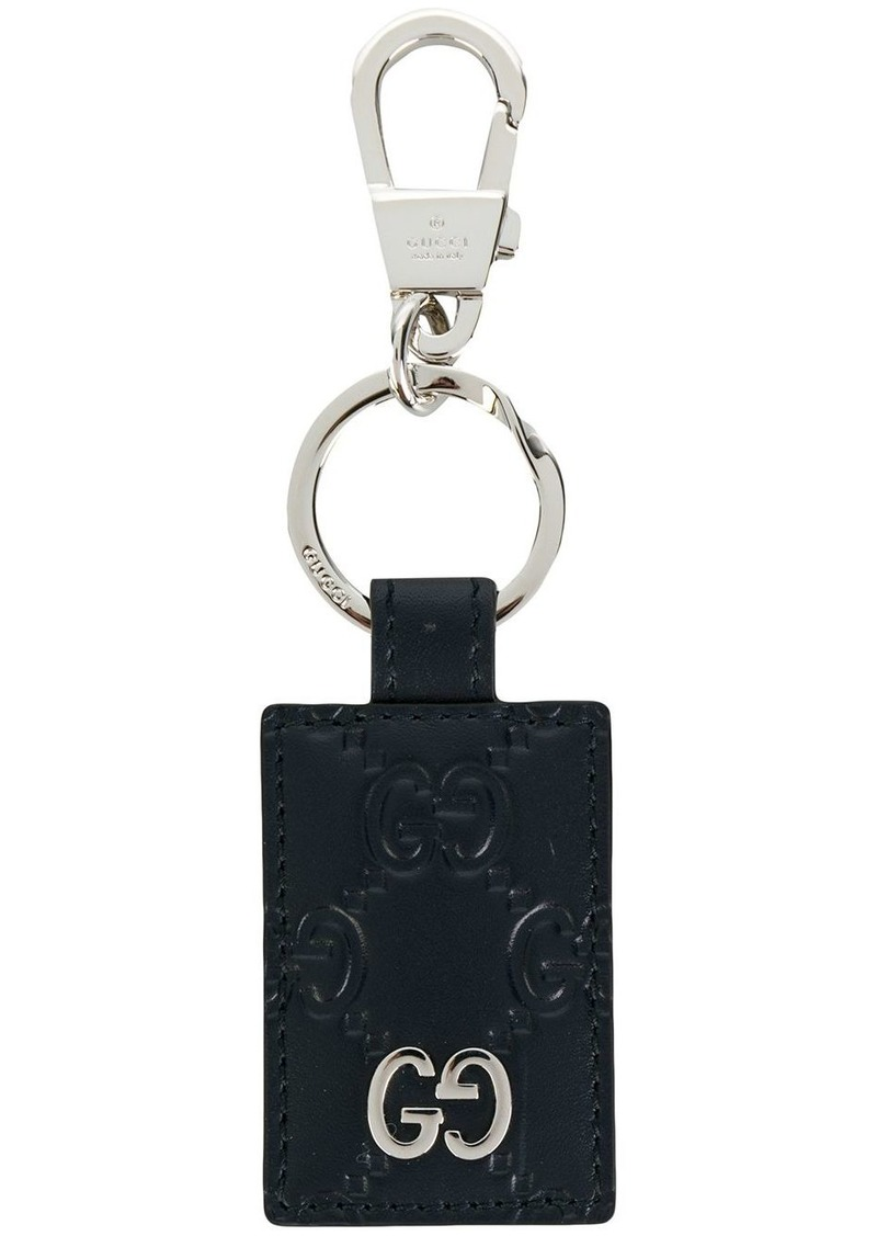 Gucci signature textured keyring