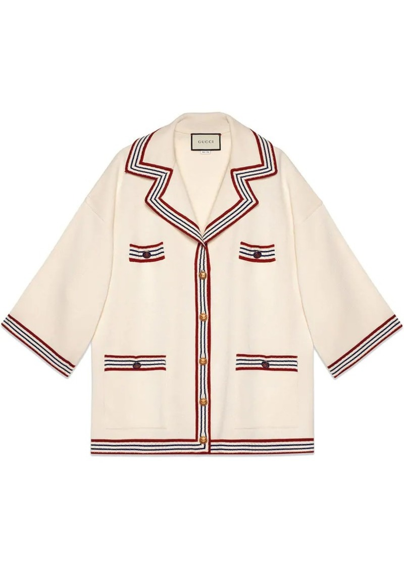 38506107 Gucci Silk cotton cardigan with stripes | Sweaters