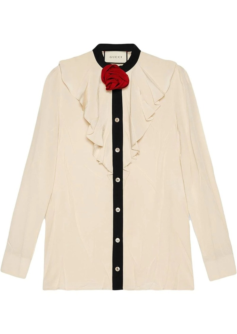 Gucci Silk shirt with ruffles