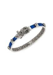 Gucci Silver & Blue Belt Bracelet