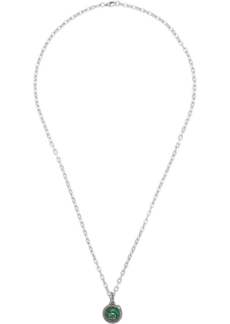 Silver & Green 'Gucci Garden' Necklace