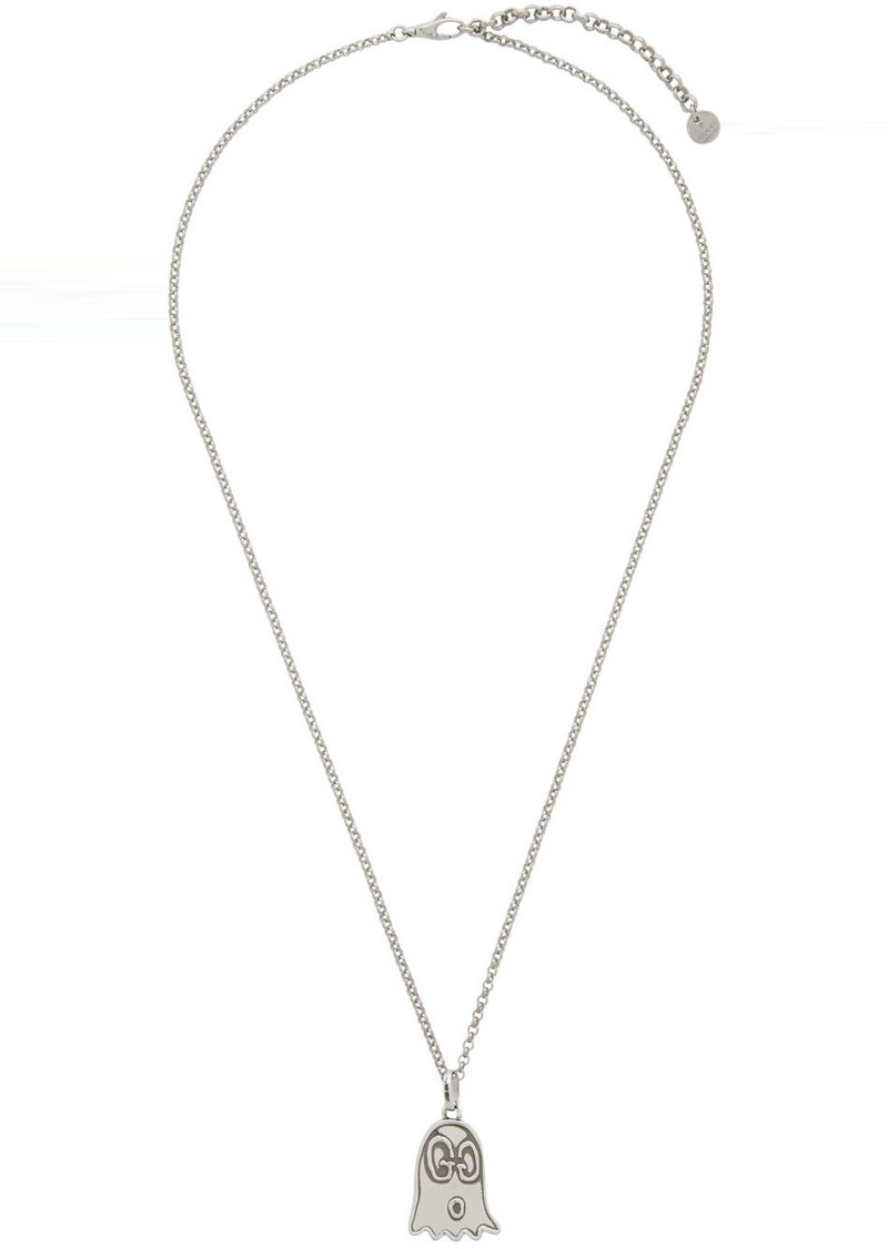 Silver 'Gucci Ghost' Necklace