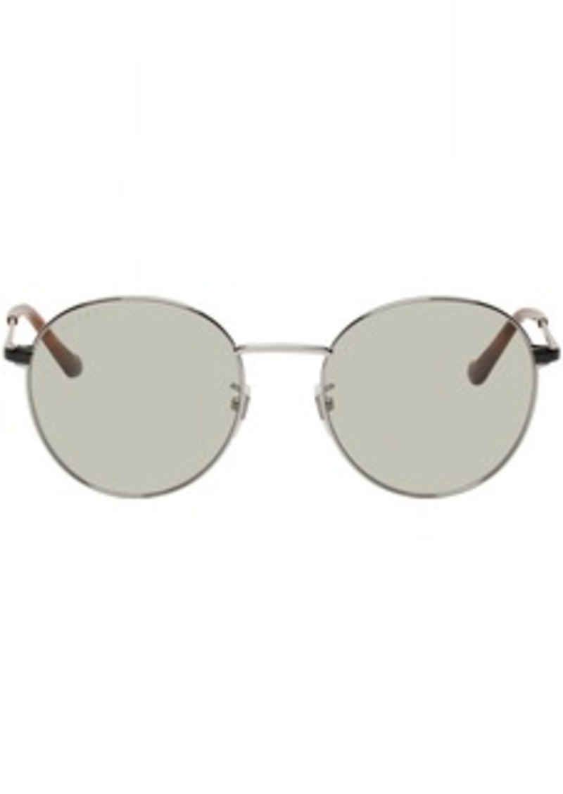 Gucci Silver Light Metal Round Glasses