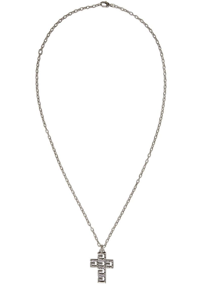 Gucci Silver Square G Cross Necklace