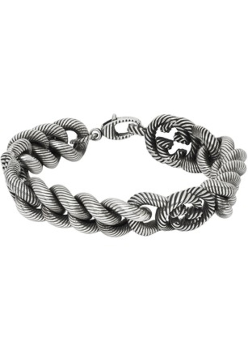 Gucci Silver Triple Interlocking G Bracelet