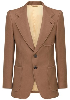 Gucci Single Breasted Wool Jacket