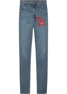 Gucci Skinny denim trousers with LA Angels™ patch