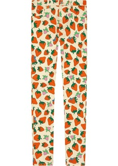Skinny pant with Gucci Strawberry print