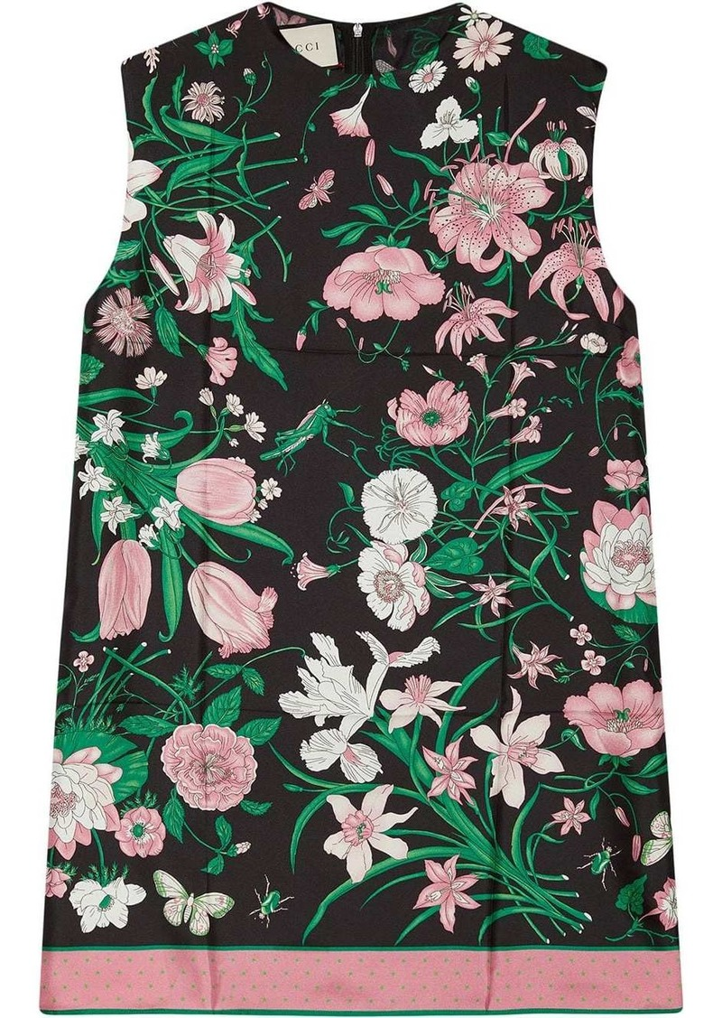 Gucci sleeveless floral blouse