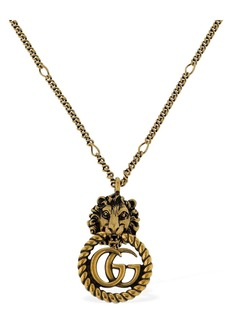 Gucci Small Lion Vintage Gg Running Necklace