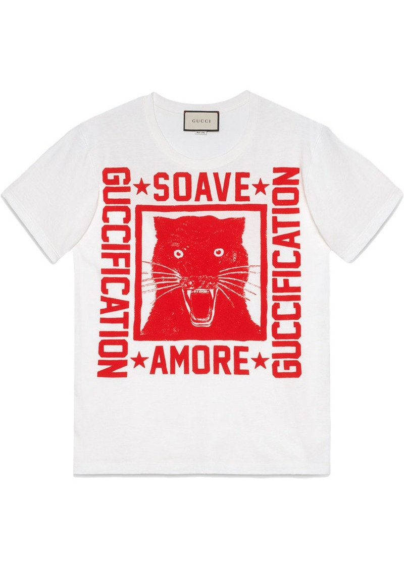 """3714b4cce04 Gucci """"Soave Amore Guccification"""" print T-shirt"""