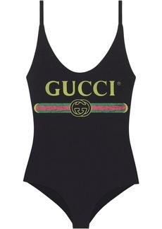 Gucci logo print swimsuit
