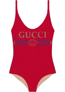 Sparkling swimsuit with Gucci logo