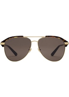 Gucci Specialized fit aviator metal sunglasses