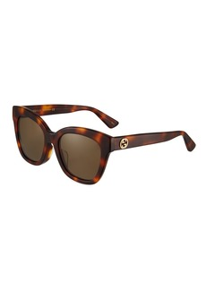Gucci Square Acetate Tortoiseshell Sunglasses