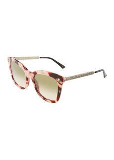 Gucci Square Acetate/Metal Tiger Sunglasses